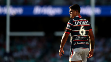 Latrell Mitchell is in limbo after announcing his departure from the Roosters on Friday, but not yet having a deal finalised with Souths.