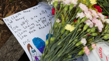 A tribute left at the scene.