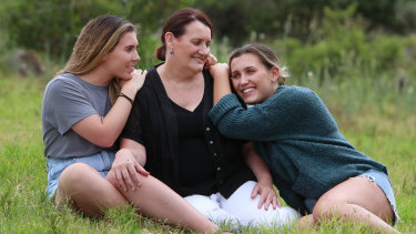 Rhonda Murray with her daughters Annie and Cassie.