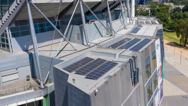 Solar panels have been installed on the outside of the MCG.
