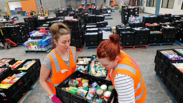 Foodbank saw a 78 per cent increase in demand since the start of the coronavirus pandemic.