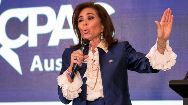Judge Jeanine Pirro talked up US President Donald Trump at her CPAC address in Sydney.