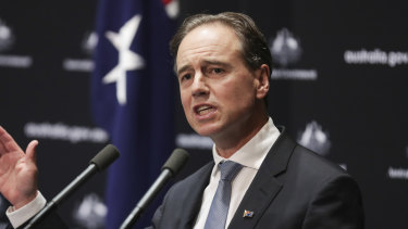 Health Minister Greg Hunt said he understood people were missing pubs but there were other priorities.
