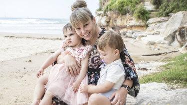 Dana Lightbody and her twins.