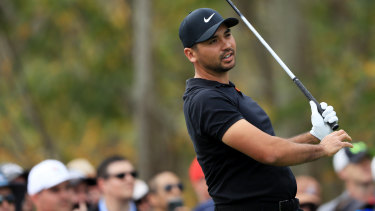 Jason Day plays off the third tee during the second round of the Arnold Palmer Invitational.