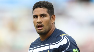 Cowboys winger Nene Macdonald is alleged to have abandoned a hire car on Magnetic Island after crashing it into a rockface.