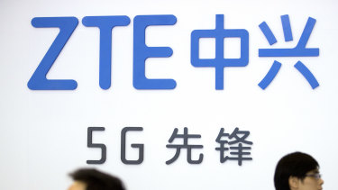 Chinese technology firm ZTE at the PT Expo in Beijing.