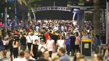 There were five arrests on the final night of Schoolies compared with 18 the previous year (file image).
