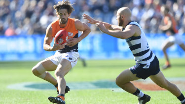Callan Ward injured his knee against Geelong, leaving the Giants without their spiritual leader for the rest of the season.