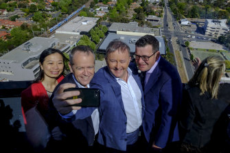 Say cheese: Premier Daniel Andrews' social media following is more than double federal colleagues Anthony Albanese and Bill Shorten combined.