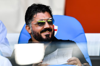 Napoli coach Gennaro Gattuso.