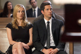 Strahovski moved to LA 14 years ago to play CIA agent Sarah Walker (pictured with Zachary Levi) in the TV series Chuck.
