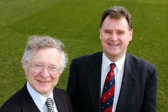 Frank Duckworth and Tony Lewis, pictured in 2003.