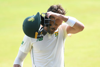South Africa captain Faf du Plessis. The country has a significant COVID wave.