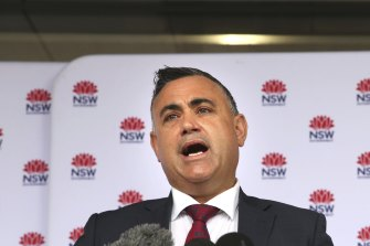 Deputy Premier John Barilaro is opposed to offshore gas drilling on the northern beaches.