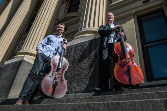 Chris Howlett and Howard Penny, co-founders of the new Bendigo Chamber Music Festival.
