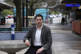 Cr Joseph Haweil, pictured at the Dallas suburban shopping strip, says there is fear, fatigue and frustration in the community.