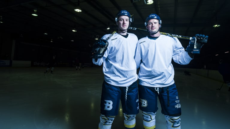 Dave (right) was playing when Canberra won its last Goodall Cup in 1998 and wants to retire a two-time champion.