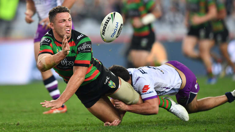 Waiting game: Sam Burgess plans to stay put at Redfern and iron out the details later.