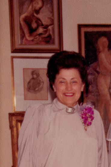 Gisella Scheinberg, businesswoman and lover of art.