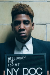 Jharrel Jerome as Korey Wise in When They See Us.