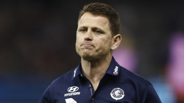 The vibe: Blues coach Brendon Bolton.