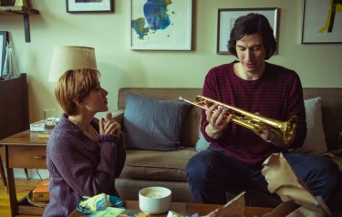 A scene from the film Marriage Story, starring Scarlett Johansson and Adam Driver.