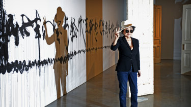 Contentious: Yoko Ono at the opening of her 2013 exhibition at Sydney's Museum of contemporary Art.