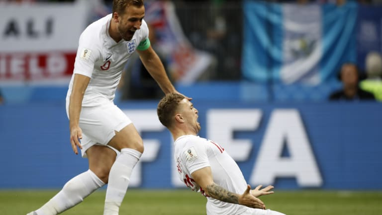 England teammates Harry Kane (left) and Kieran Trippier made the short-list.
