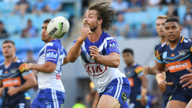 Orchestrator: Kieran Foran set up three tries as the Bulldogs reeled in a huge early deficit against the Titans.
