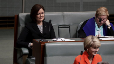 Assistant Minister for Social Services, Housing and Disability Services Sarah Henderson during a division on the bill.