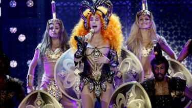 Cher, live in concert.