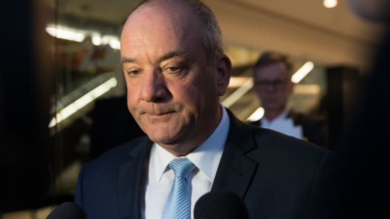 Daryl Maguire leaves the ICAC after giving evidence on Friday.