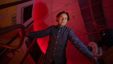 Perry Vlahos in the Mt Burnett Observatory in Victoria.
