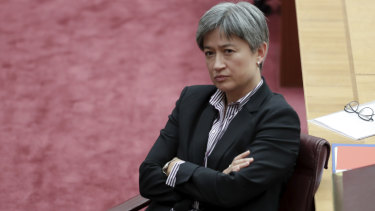 Labor's Senate leader Penny Wong during the motion to formally censure Fraser Anning.