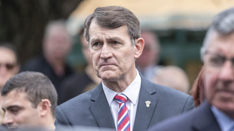 Lord mayor Graham Quirk, pictured earlier on Tuesday at Terry Mackenroth's state funeral, confirmed he would seek re-election in 2020.