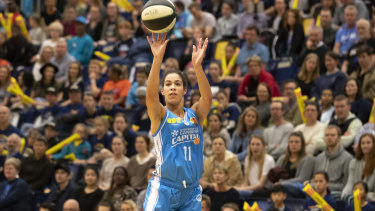 Kia Nurse scored 26 points in her WNBL debut on Friday.