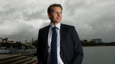 Canning MP Andrew Hastie, Chair of the Parliamentary Joint Committee on Intelligence and Security, in Mandurah.