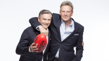 Footy Show originals Eddie McGuire and Sam Newman.