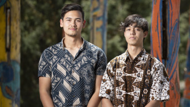 Narrabundah College students Joseph Armstrong and Aidan Brooke are worried their ATARs and future plans will be jeopardised if Indonesian is cut from their studies.