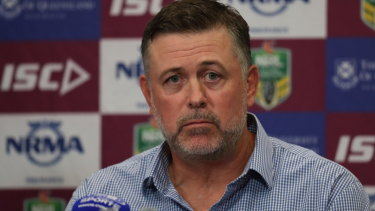Frustrated: Dean Pay after the Bulldogs were beaten by the Broncos.