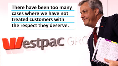 Westpac chief executive Brian Hartzer wrote a memo to staff on Monday ahead of the banking royal commission.