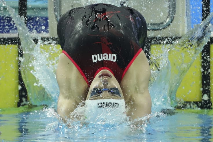 Hungary's Katinka Hosszu, a strong ISL supporter, competes at the Hungzhou short course championships.