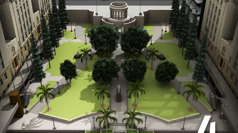 Stage four of the Anzac Square will include adding a lift and more grass.