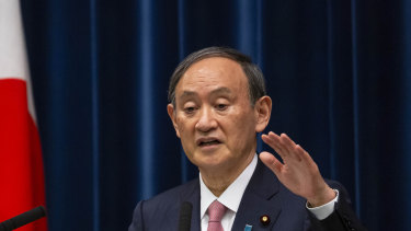 Japanese Prime Minister Yoshihide Suga announces the state of emergency extension on Friday.