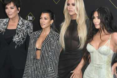 Sister act ... (from left) Kris Jenner with daughters Kourtney Kardashian, Khloe Kardashian and Kim Kardashian West.