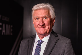 The voice of rugby league Ray Warren at his Hall of Fame induction.