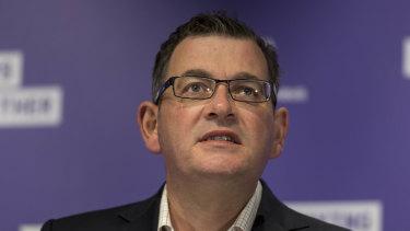 Under pressure: Victorian Premier Daniel Andrews.