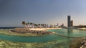 The Jeddah Corniche.