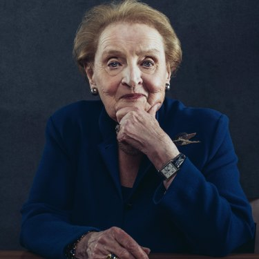While keen for a female president, Madeleine Albright says she wouldn't vote for someone she disagreed with simply because she was a woman.